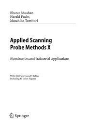 Cover of: Applied scanning probe methods X
