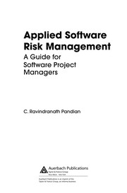 Cover of: Applied software risk management | C. Ravindranath Pandian
