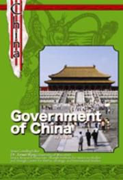 Cover of: The Government Of China (History and Culture of China) | Yu, Ph.D. Bin, Bin Yu