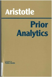 Cover of: Prior Analytics