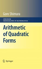 Cover of: Arithmetic of quadratic forms