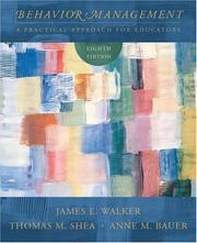 Behavior management by James Edwin Walker