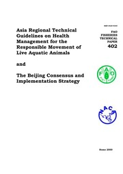 Cover of: Asia Regional Technical Guidelines on Health Management for Responsible Movement Fisheries Technical Papers | Ched by the Network of Aquaculture Cente