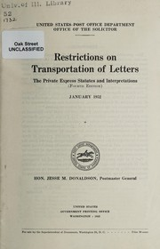 Restrictions on transportation of letters