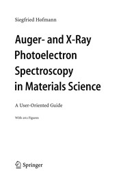 Cover of: Auger- and X-Ray Photoelectron Spectroscopy in Materials Science | S. Hofmann