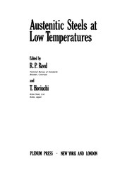 Cover of: Austenitic Steels at Low Temperatures | R. P. Reed