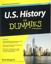 Cover of: U.S. History For Dummies | Steve Wiegand