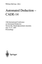 Cover of: Automated DeductionCADE-14 | W. McCune