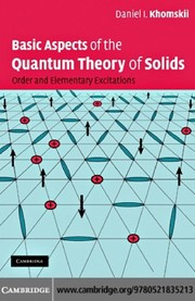 Cover of: Basic Aspects of the Quantum Theory of Solids | Daniel I. Khomskii