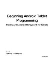 Cover of: Beginning Android Tablet Programming | Robbie Matthews