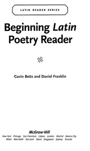 Cover of: Beginning Latin poetry reader |