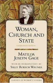 Cover of: Woman, church and state