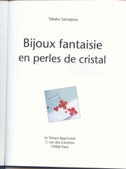 Cover of: Bijoux fantaisie en perles de cristal