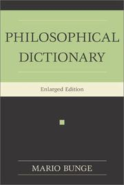 Cover of: Philosophical dictionary | Mario Bunge