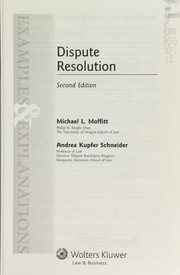Cover of: Dispute resolution | Michael L. Moffitt