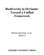 Cover of: Biodiversity in drylands |