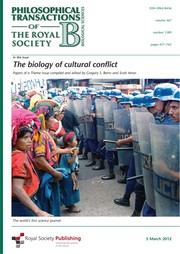 Cover of: The biology of cultural conflict | Gregory Berns