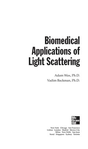 Cover of: Biomedical applications of light scattering | Adam Wax