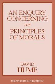 Cover of: An enquiry concerning the principles of morals