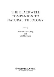Cover of: The Blackwell companion to natural theology