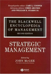Cover of: The Blackwell encyclopedia of management. |