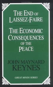 Cover of: The end of laissez-faire