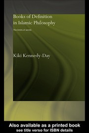 Cover of: Books of definition in Islamic philosophy | Kiki Kennedy-Day