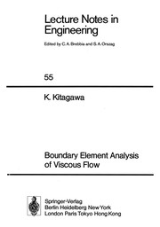 Cover of: Boundary element analysis of viscous flow