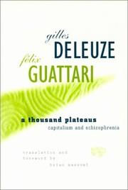 Cover of: A thousand plateaus | Gilles Deleuze