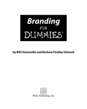 Cover of: Branding for dummies | Bill Chiaravalle