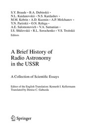 Cover of: A Brief History of Radio Astronomy in the USSR | S. Y. Braude