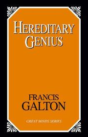 Cover of: Hereditary genius | Sir Francis Galton