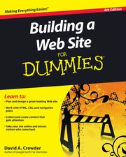 Cover of: Building a Web site for dummies | David A. Crowder