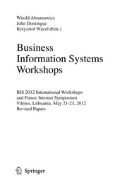Cover of: Business Information Systems Workshops | Witold Abramowicz