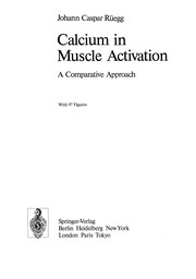 Cover of: Calcium in Muscle Activation | Johann Caspar RГјegg
