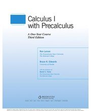 Cover of: Calculus I with precalculus