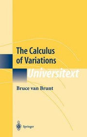 Cover of: The calculus of variations | B. Van Brunt