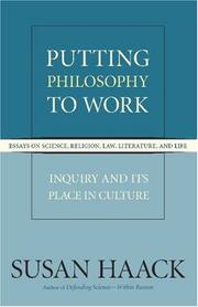 Cover of: Putting Philosophy to Work
