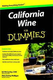Cover of: California Wine For Dummies | Ed McCarthy