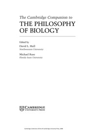 Cover of: The Cambridge companion to the philosophy of biology |
