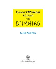 Cover of: Canon EOS Rebel XS/1000D for dummies | Julie Adair King