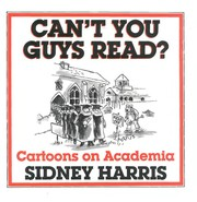 Cover of: Can't you guys read? cartoons on academia