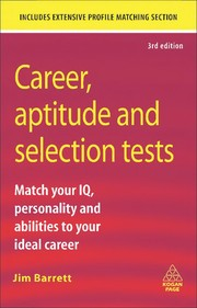 Cover of: Career aptitude and selection tests | Jim Barrett