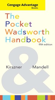 Cover of: The pocket Wadsworth handbook