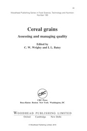Cover of: Cereal grains | C. W. Wrigley