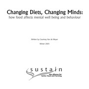Cover of: Changing diets, changing minds | Courtney Van de Weyer