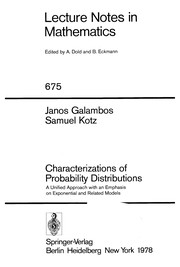 Characterizations of probability distributions