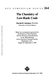 Cover of: The Chemistry of low-rank coals