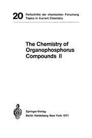 Cover of: The Chemistry of Organophosphorus Compounds II (Topics in Current Chemistry) | H. J. Bestmann