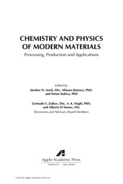Cover of: Chemistry and physics of modern materials